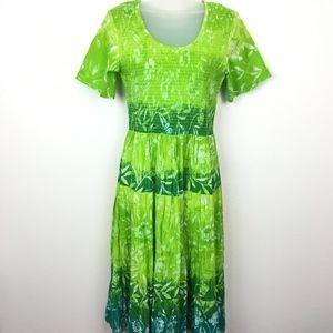 Vintage Draper's & Damon's Tropical Print Dress PS